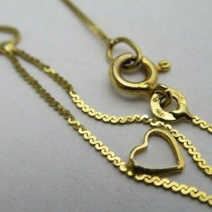 """Jewelry - 14k yellow gold Heart bracelet. 6.5""""SOLD"""